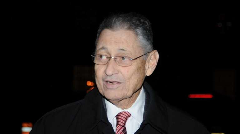 Former State Assembly Speaker Sheldon Silver leaving the