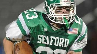 Seaford's Danny Roell rushes for a gain during