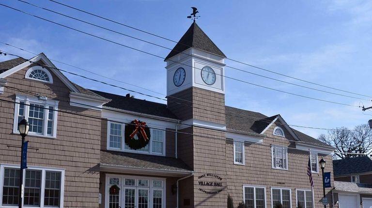 The exterior of East Williston Village Hall is