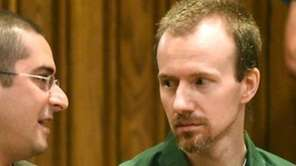 David Sweat, right, talks with his lawyer, Joseph