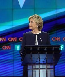 Democratic presidential candidates Sen. Bernie Sanders and Hillary