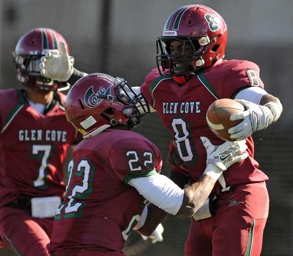 Glen Cove running back No. 8 David Bull,