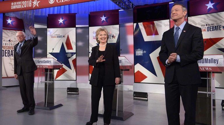 Democratic presidential candidates Bernie Sanders and Hillary Rodham