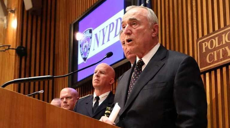 NYPD Commissioner William J. Bratton speaks at a