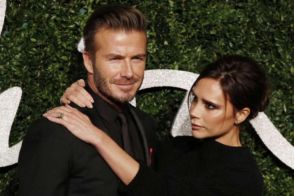 Former British soccer player David Beckham was named
