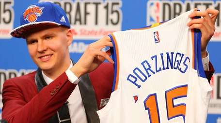 Porzingis was selected fourth overall in the 2015
