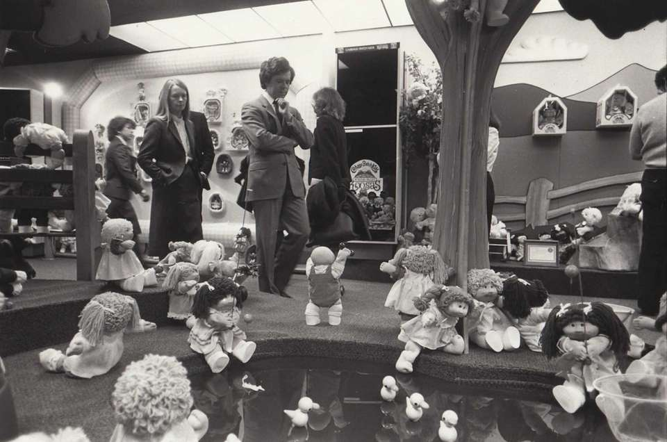 The Coleco Cabbage Patch Doll exhibit at the