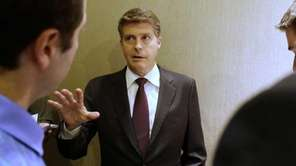 New York Yankees owner Hal Steinbrenner speaks to