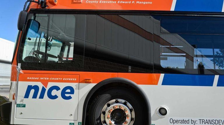 One of NICE's fleet of buses is seen