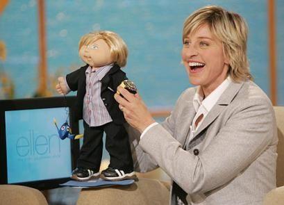The Ellen DeGeneres Kid met her namesake during