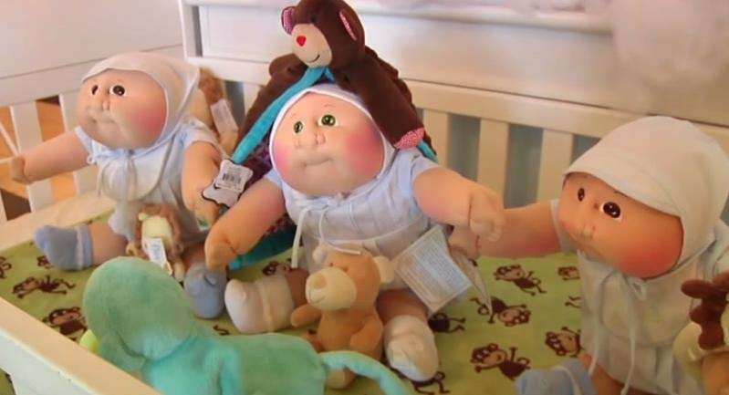 Mass-market Cabbage Patch Kids dolls similar to the