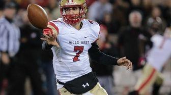 Half Hollow Hills West Quarterback Anthony Lucarelli #7