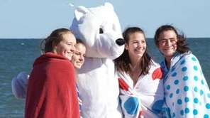 What's a polar plunge without a polar bear?