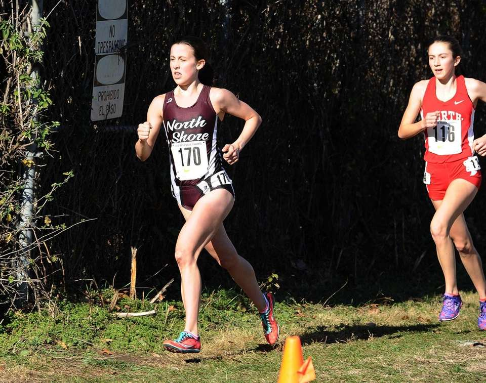 Diana Vizza of North Shore during her race