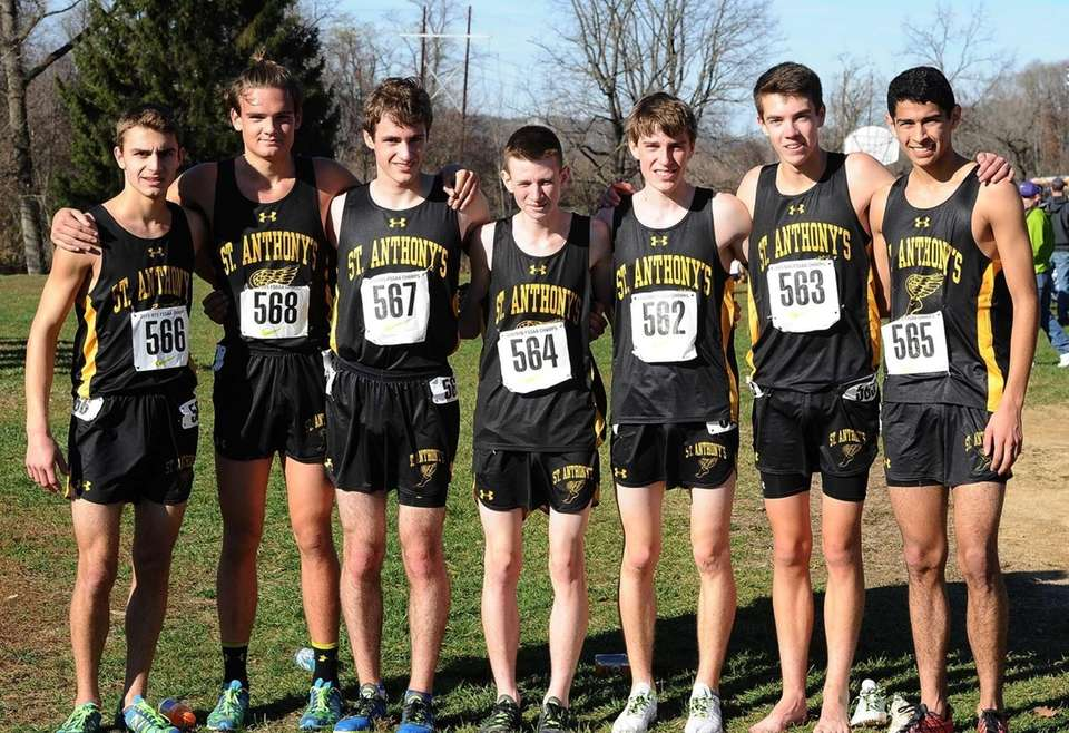 St. Anthony's boys cross country team were crowned