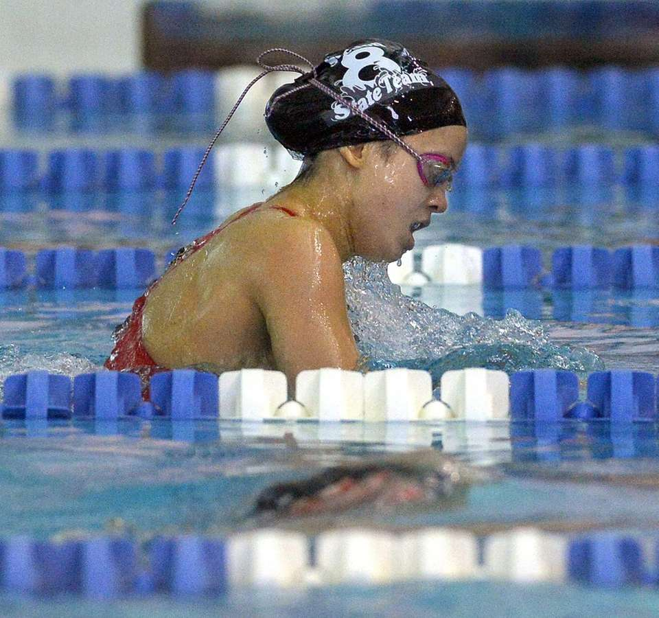 Manhasset's Claire McNeary swims in the finals of