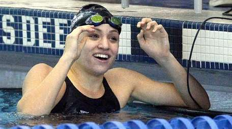 Long Beach's Margaret Aroesty reacts to seeing her