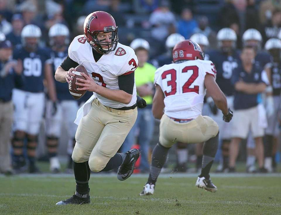 Scott Hosch #3 of the Harvard Crimson looks