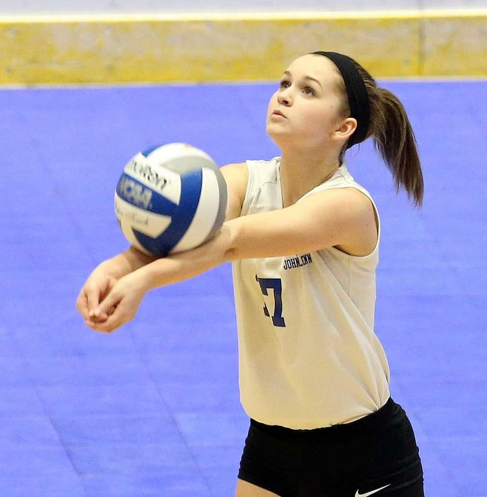 Glenn's Camryn Ackley gets the dig at the