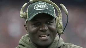 New York Jets head coach Todd Bowles walks