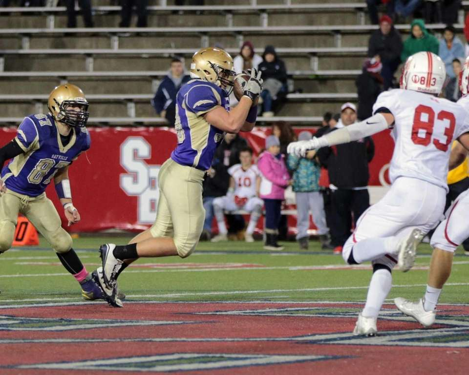 Sayville's Liam Bailey #58 recovers an onside kick