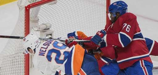 The Montreal Canadiens' P.K. Subban (76) defends the