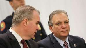 County Executive Edward Mangano, right, at the Cradle
