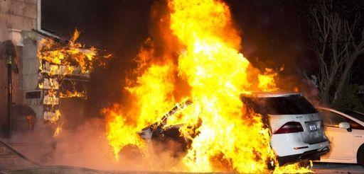 Firefighters from Baldwin, Oceanside and Freeport battle a