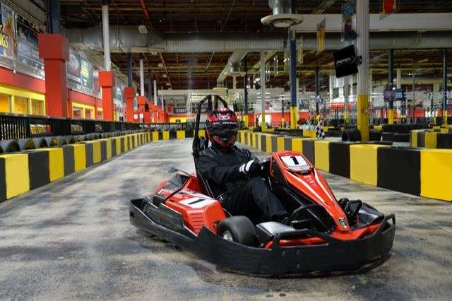 Go-karting isn't just for outdoors. Here on Long