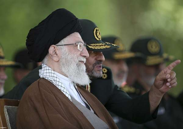 Supreme Leader Ayatollah Ali Khamenei is pictured May