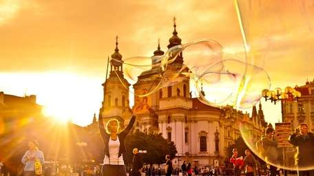 Prague's Baroque Old Town Square is alive with