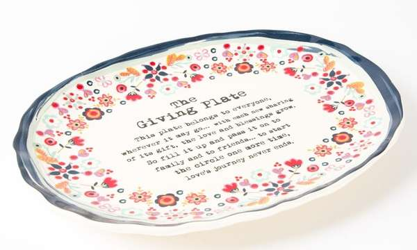 This colorful, floral ceramic plate inspires the spirit