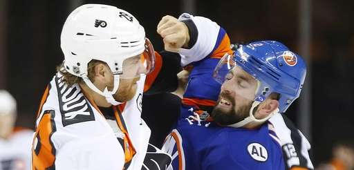 Nick Leddy #2 of the New York Islanders