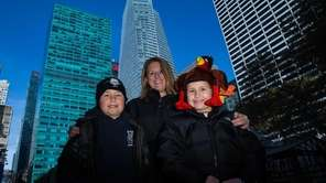 Jessica Russell Bany, her son, William, 10, and