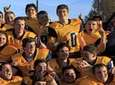 The Shoreham-Wading River football team celebrates after their