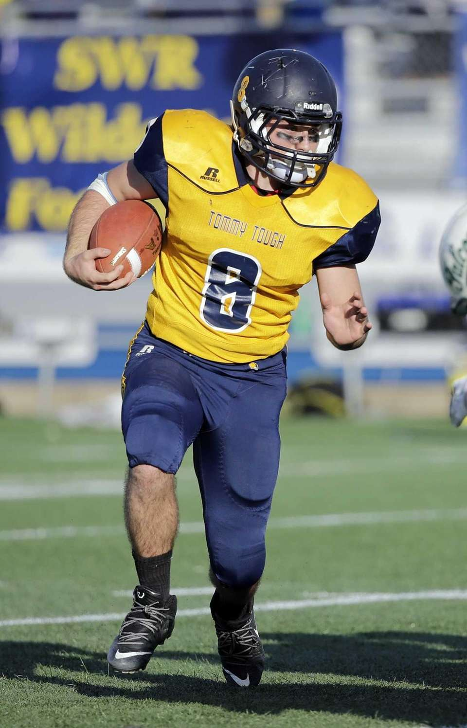 Shoreham-Wading River running back Chris Rosati (8) looks