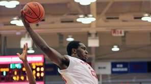 Jameel Warney #20 grabs a rebound in the