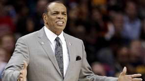 Brooklyn Nets head coach Lionel Hollins reacts in