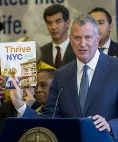 Mayor Bill de Blasio is shown on Nov.