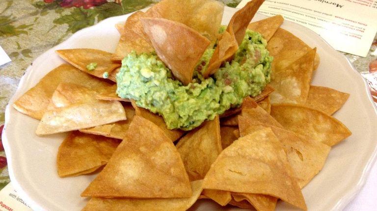 Las Delicias Latinas in Farmingdale serves guacamole with