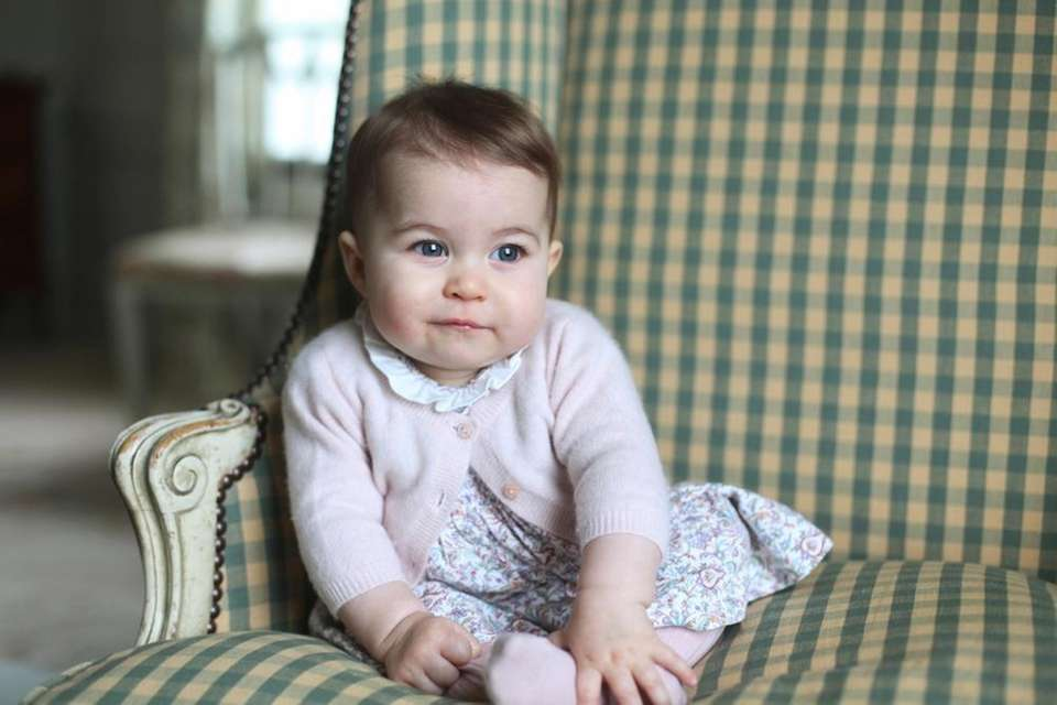 Princess Charlotte, at Anmer Hall in Sandringham, England.