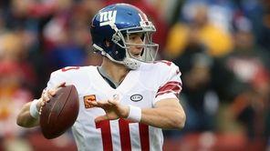 Quarterback Eli Manning of the New York Giants