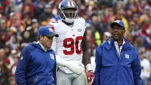 Defensive end Jason Pierre-Paul #90 of the New