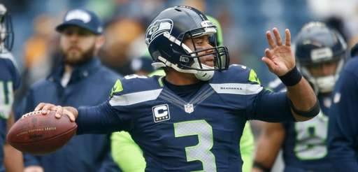 Quarterback Russell Wilson #3 of the Seattle Seahawks