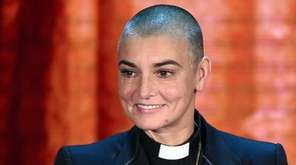 Irish singer Sinead O'Connor performs during the Italian