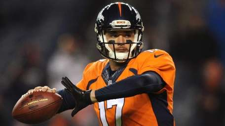Quarterback Brock Osweiler #17 of the Denver Broncos