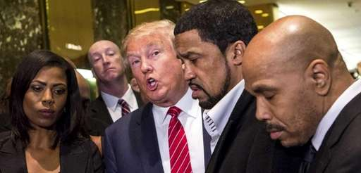 Donald Trump stands with a coalition of African-American