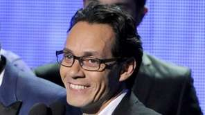 Marc Anthony, winner of the award for best
