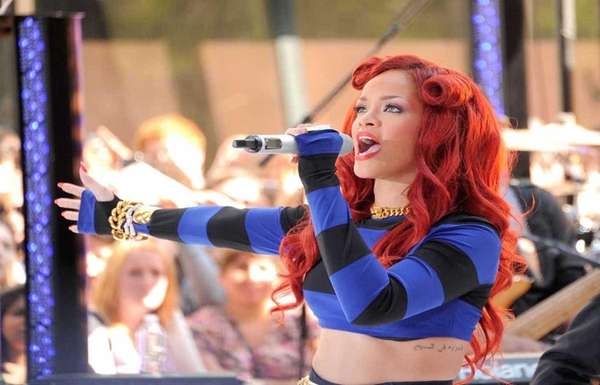 Rihanna performs on NBC's
