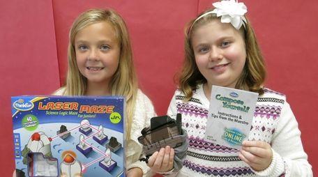 Kidsday reporters Isabella Perrone, left, and Skylar MacIntyre